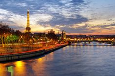 Paris Skyline at Sunset by James Whitesmith, via Flickr.  James is one of my favs on Flickr