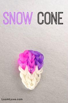 Rainbow Loom Snow Cone Charm!!!