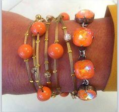 Orange Victoria Lynn Bracelets