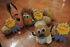 A Potato Pageant for St. Patrick's Day, with a freebie! I looove this creative idea!