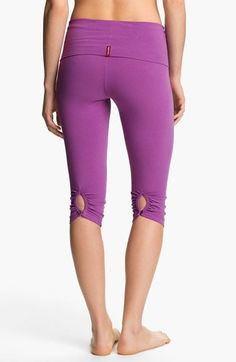Hard Tail Shirred Knee Length Leggings available at #Nordstrom