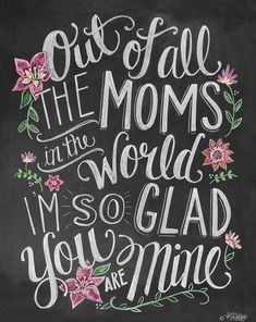 Happy Mothers Day Quotes : QUOTATION – Image : As the quote says – Description Mother's Day Card – Card For Mom – Chalkboard Art – Hand Lettering and Illustration By Valerie McKeehan- Chalk Art USD) by LilyandVal Happy Birthday Mom Quotes, Birthday Wishes For Mom, Happy Mother Day Quotes, Happy Birthday Mom From Daughter, Mom Quotes From Daughter, Happy Birthday Mother, Happy Mothers Day Mom, Quotes For Mum, Mother Qoutes
