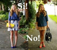 Fashion for Beginners: Variations in height: short legs long torso-