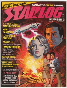 Starlog #2, November 1976, NM, $30 - Space: 1999 cover painting by Dick Kohfield. Space: 1999 complete season 1 episode guide plus 12 episodes from season 2.