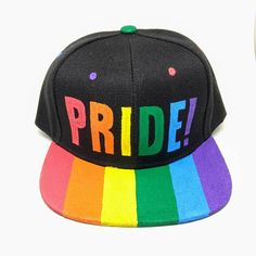 ce496251dca Pride Gay LGBTQA Queer Rainbow Flag Snapback Hat Gay Pride Rainbow Pride