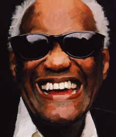 Sylvie PERRIN, french painter  [Ray Charles, digital painting]