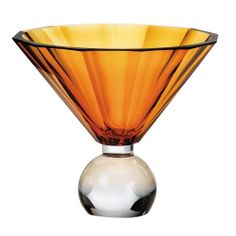 """""""Her Majesty's Vase"""" in faceted crystal glass by Jan Mares for Moser, Czech Republic"""