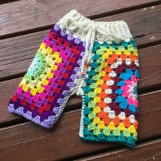 Lunar Pants  Crochet funky Lunaress original toddler pants.
