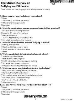 free example questionnaires on low self esteem - Google Search ...