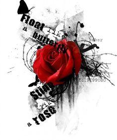 Tattoo Роза - tattoo's photo In the style Trash polka Rose Rose Tattoos, Body Art Tattoos, New Tattoos, Small Tattoos, Sleeve Tattoos, Tatoos, Sketch Tattoo Design, Tattoo Sketches, Tattoo Drawings
