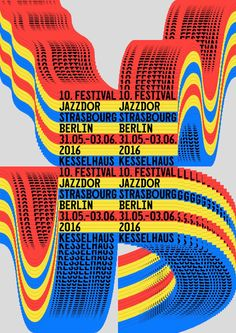 Jazzdor Berlin 201 (4 combinatorial posters), by Helmo