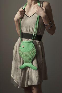 green Fish Purse via Etsy.