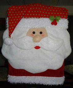 Forro de silla Christmas Crafts, Christmas Decorations, Holiday Decor, Kids Pillows, Chair Covers, Elves, Christmas Stockings, Artwork, Home Decor