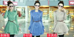 Free Shipping Ouqing Brand Long Trench Coat Dresses Women 2013 New Arrival Fashion Slim Style Super Sexy Dresses Women Hot Sale $45.89