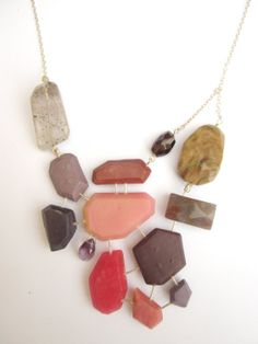 Geometric Necklace Radiant Orchid Necklace by BlueEyedSquirrel, $65.00