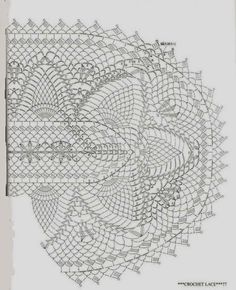 crochet home: napkin tablecloth