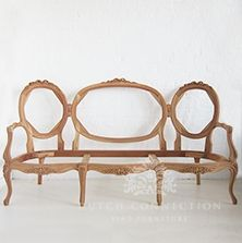 French Style Sofa with Ribbon Detail / Ribbon Triple Settee / Dutch Connection Raw Furniture, Drawing Furniture, Unfinished Furniture, Mahogany Furniture, Types Of Furniture, Furniture Styles, Wooden Furniture, Furniture Projects, Antique Furniture