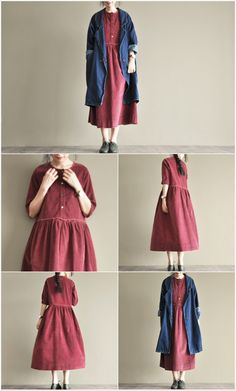 Red lovely Japan style dresses