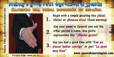 Starting a simple conversation in Spanish. A basic conversation in Spanish may include greetings, sometimes a simple introduction, numbers, countries and many other things. Using the right questions and expressions to start and finish a conversation in Spanish is very important. This picture is part of a complete Spanish lesson about this topic