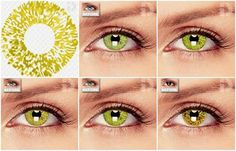Really turn some heads with these Gold coloured contacts with their reflective sparkly metallic elements that will make your eyes glimmer.