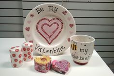 Beautiful hand painted pottery perfect for a Valentine's day gift