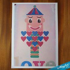 Clown, print on paper