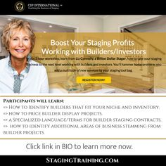 Boost Staging Profits Working with Builders/Investors Home Profits. In this workshop you will earn to take your staging business to the next level. Intensive Training, Home Staging, Investors, Las Vegas, Workshop, Join, Socks, Teaching, Business