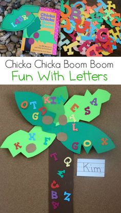 Chicka Chicka Boom Boom Fun with Literature - Laura Kelly's Inklings Preschool Poems, Bill Martin, Chicka Chicka Boom Boom, Very Hungry Caterpillar, Kid Stuff, Books To Read, Literature, Crafts For Kids, Language