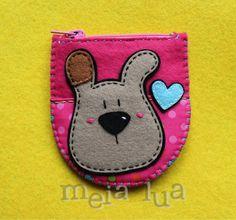 Monedero Kawaii Crafts, Kawaii Diy, Cute Crafts, Felt Crafts, Felt Animal Patterns, Stuffed Animal Patterns, Easy Sewing Projects, Sewing Crafts, Felt Bookmark