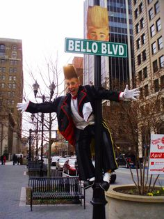 "America's Best Clown said by Time Magazine, Bello Nock! This picture was taken in New York while on tour on the show ""Bellobration"" with Ringling Bros. And Barnum & Bailey Circus!"