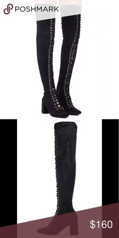 8293088c069 NEW Jeffrey Campbell WILSHIRE Boot New in box • Thigh-high lace-up boot