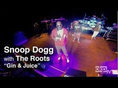 The vet Snoop sings Gin & Juice with the assistance from The Roots.  The vets of hip-hop made classics.
