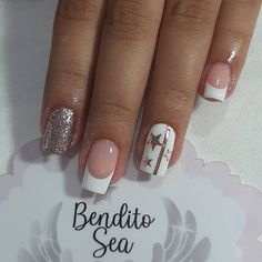 French Manicure Nail Designs, French Nails, Nail Manicure, Nail Art Designs, Cute Spring Nails, Cute Nails, Pretty Nails, My Nails, Black Acrylic Nails