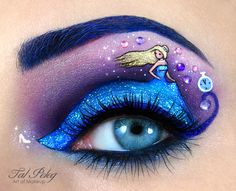 Makeup artist turns her eyelids into works of art: Princess and the Pea