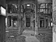 Archeologia industriale. Si trarrà di una foto dell'ex acciaieria Montecatini di Falconara Marittima in provincia di Ancona. La fabbrica, costruita nel 1928, è stata dismessa nel 1991 ed ora si trova in stato di totale abbandono. Ne rimangono le ceneri. Le foto sono state realizzate nel novembre del 2010.
