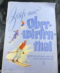 Noten-034-Gruess-mir-Oberwiesenthal-034-Herbert-Roth-1954-Ski-Schneeschuhfahrer