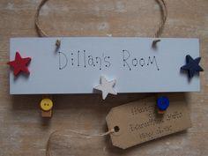Personalised Children s Boy Door Name Nursery Playroom Christening Gift Sign Bedroom Door Signs, Bedroom Doors, Personalised Childrens Gifts, Playroom Signs, Wooden Bedroom, Artwork Display, Christening Gifts, Handmade Wooden, Kids Bedroom