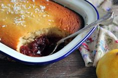 Grain free, lemon plum pudding. The recipe uses coconut flour and coconut cream. The ultimate comfort food.