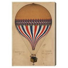 Featuring a skillfully made air balloon design, the Wynwood Studio Le Tricolore Balloon Framed Wall Art adds classic style to your room. The striking art piece arrives ready to hang with a premium white frame. Painting Frames, Painting Prints, Wall Art Prints, Framed Prints, Canvas Prints, Paintings, Balloon Frame, Air Balloon, Vintage Art Prints