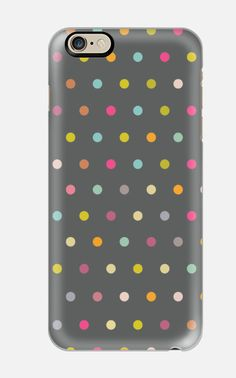 iphone 6 case Carnival Grey - full of multicolor polkadots - Get tons of compliments when you carry this iPhone 6 Case - cell case