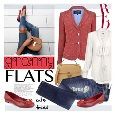 """""""Cute Trend: Granny Flats"""" by sofi-danka ❤ liked on Polyvore featuring Armani Jeans, Chloé, Tommy Hilfiger, women's clothing, women's fashion, women, female, woman, misses and juniors"""