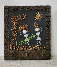 Wall Art Wallpaper, Mural Wall Art, Murals, 3d Canvas Art, Worli Painting, Indian Traditional Paintings, Pottery Painting Designs, African Art Paintings, Clay Wall Art