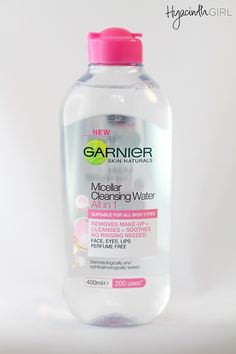 Garnier Micellar Cleansing Water is available in New Zealand! But what is micellar water? Morgan from Hyacinth Girl lays down the facts. Garnier Micellar Water, Water Hyacinth, Natural Skin, Cleanse, Water Bottle, Lips, Perfume, Water Bottles, Fragrance