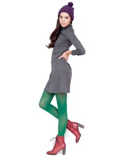 need green leggings ASAP Green Tights, Green Leggings, Tent Dress, American Apparel, Turtle Neck, How To Wear, Clothes, Shopping, Dresses