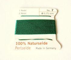 Edelsteine-Welt - Naturseide,  Perlseide 0,75 Grün