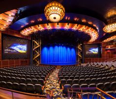 Bespoke fittings by Chelsom for the theatre onboard Symphony of the Seas