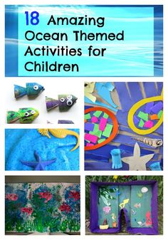 Take a look at our 18 Ocean themed activities for children! The ocean is a world of inspiration for craft- get creative and have lots of fun with here great ideas!