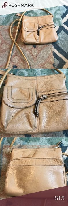 •Tignanello• Brown Crossbody Couple spots as shown. Tignanello Bags Crossbody Bags