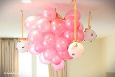 Balloon Chandelier....omg im going to make this for New Years