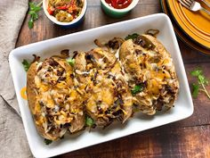 Philly Cheesesteak Loaded Baked Potatoes  ==>> Surprise link in description!